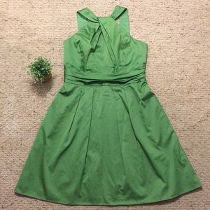 {David's Bridal} Green Halter Bridesmaid Dress